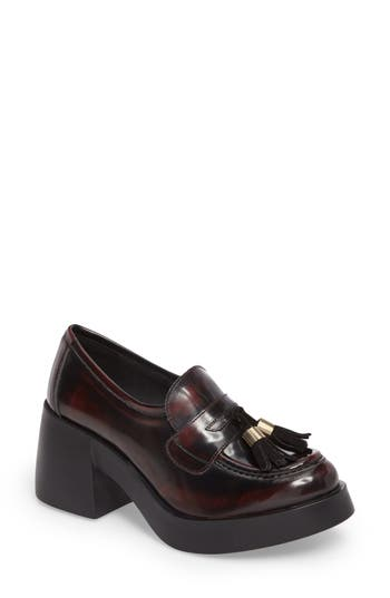 Shellys London Kipp Loafer Pump Burgundy