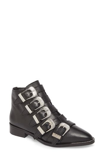 Topshop Andi Multi Buckle Boot - Black