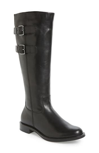 Ecco Shape 25 Tall Buckle Boot, Black
