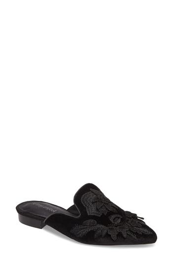 Jeffrey Campbell Claes Applique Loafer Mule, Black
