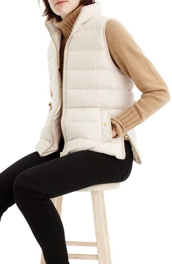 J.crew Anthem Down & Feather Fill Puffer Vest, Beige