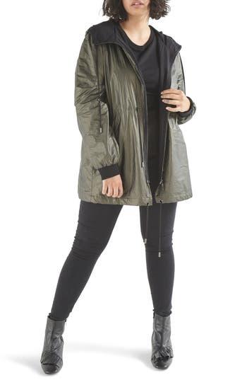 Plus Size Elvi Parka Jacket, US / 18 UK - Green