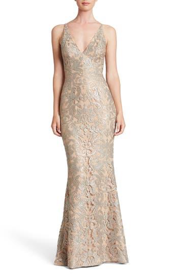Dress The Population Karen Mermaid Gown, Metallic