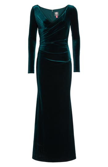 Vince Camuto Velvet Gown, Green