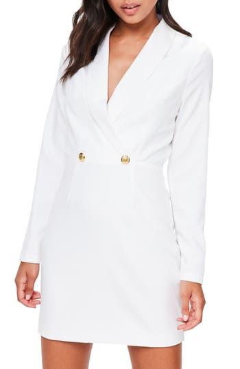 Missguided Tuxedo Jacket Dress, US / 6 UK - White