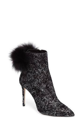 Jimmy Choo Tesler Genuine Fox Fur Bootie, Black