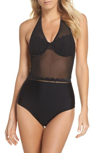 Ted Baker London Underwire One-Piece Swimsuit - Black