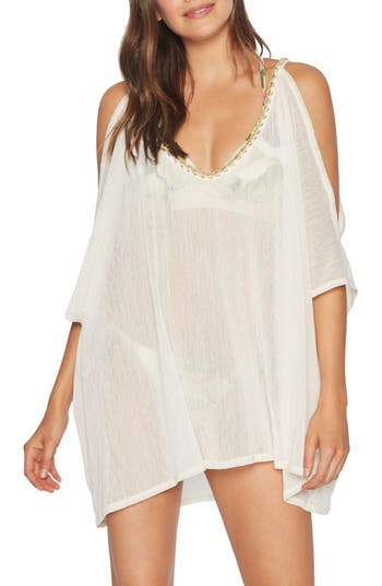 Women's Robin Piccone Francesca Cover-Up Tunic, Size Small - Ivory