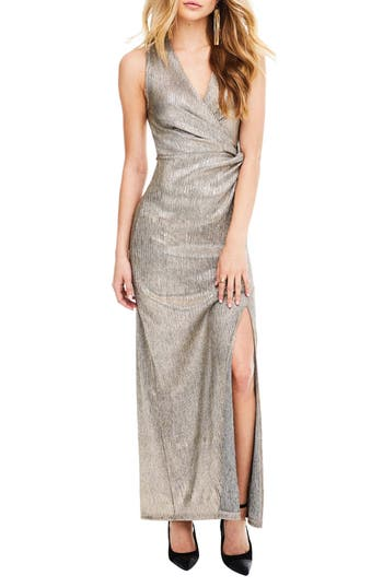 Astr The Label Ginger Maxi Dress, Metallic