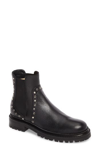 Jimmy Choo Burrow Chelsea Boot, Black