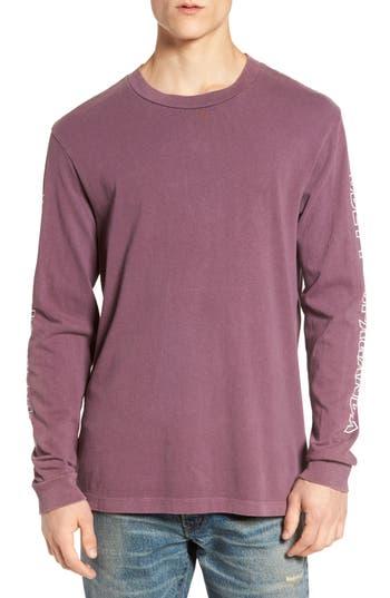 Obey Rough Draft Long Sleeve T-Shirt, Purple