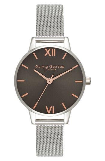 Women's Olivia Burton Round Mesh Strap Watch, 30Mm