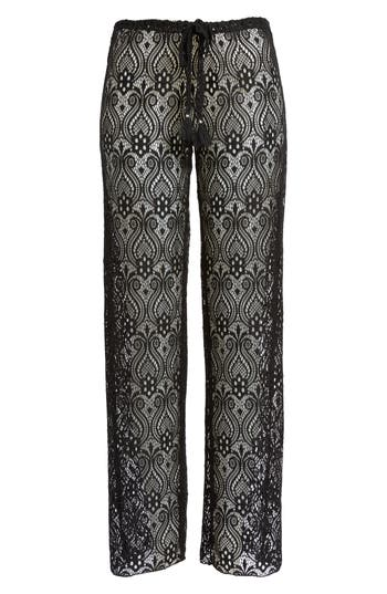 Becca Poetic Lace Cover-Up Pants, Black