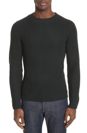 A.p.c. Pull Berger Merino Wool Sweater, Green