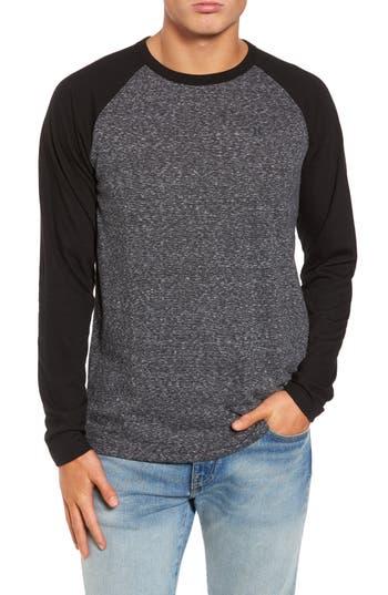 Hurley Still Raglan Sleeve T-Shirt, Black