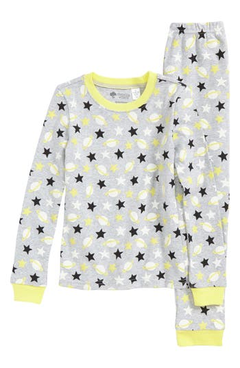 Girls Tucker  Tate Glow In The Dark TwoPiece Fitted Pajamas