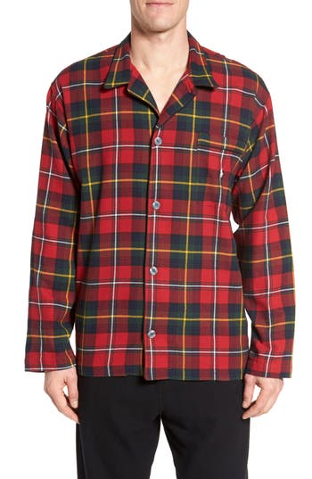 Polo Ralph Lauren Flannel Pajama Shirt, Red