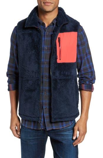 Men's Surfside Supply Colorblock Fleece Vest, Size Small - Blue