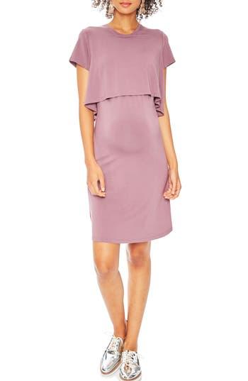 Rosie Pope Anita Popover Maternity Dress, Pink