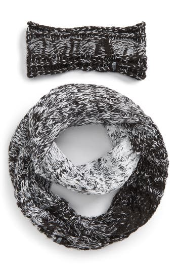 Women's The North Face Cable Ear Gear Earband & Scarf Set - Black at NORDSTROM.com