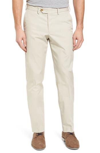 Bills Khakis Straight Fit Travel Twill Pants, x Unhemmed - Beige