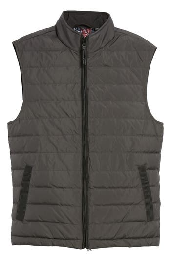 Ted Baker London Jozeph Quilted Down Vest, Black