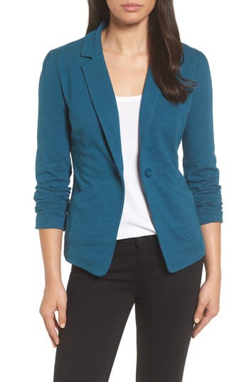 Caslon® Knit One-Button Blazer