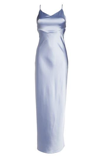 Maria Bianca Nero Gemma Bias Cut Satin Slipdress, Blue