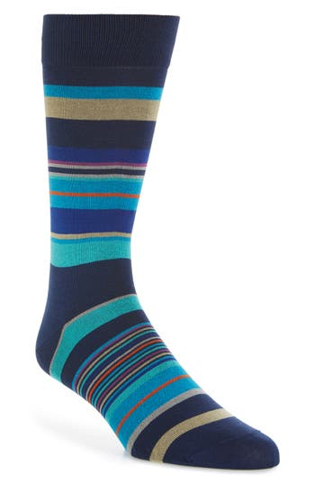 Men's Bugatchi Stripe Crew Socks