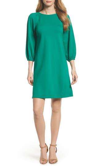 Women's Eliza J Balloon Sleeve Shift Dress, Size 0 - Green