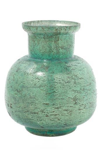 Accent Decor Suncoo Mercury Glass Vase, Blue/green