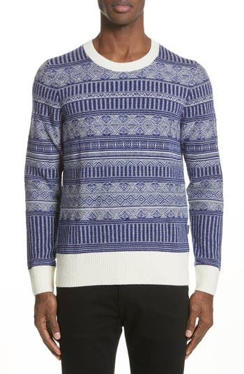 Burberry Tredway Wool & Cashmere Sweater, Blue