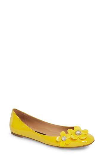 Marc Jacobs Daisy Studded Ballet Flat, Yellow