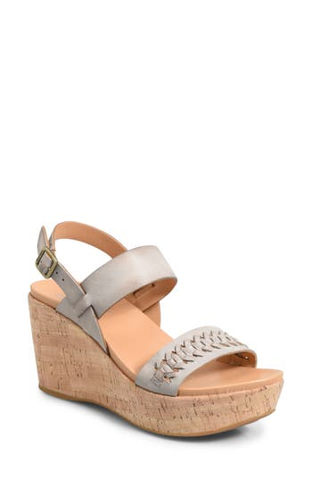 Kork-Ease Austin Braid Wedge Sandal, Grey