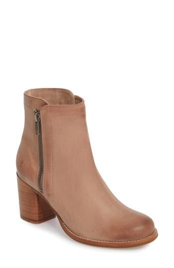 Women's Frye Addie Double Zip Bootie, Size 5.5 M - Pink