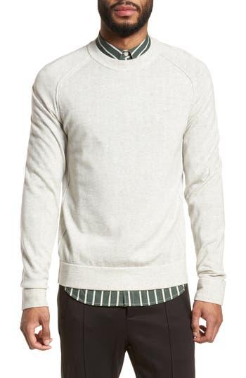 Vince Raw Seam Merino Wool Sweater, White
