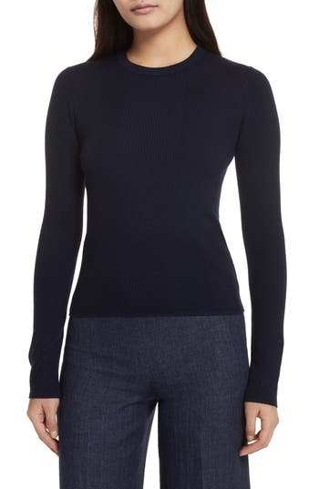 Theory Merino Wool Blend Sweater, Blue