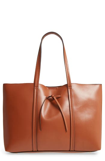 Sole Society Oversize City Faux Leather Tote - Brown
