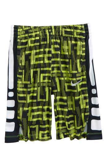 Boy's Nike Dry Elite Basketball Shorts, Size S (8) - Yellow