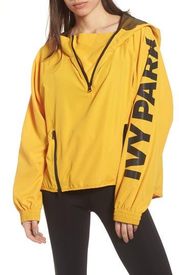 Women's Ivy Park Zip Detail Pullover, Size X-Small - Metallic