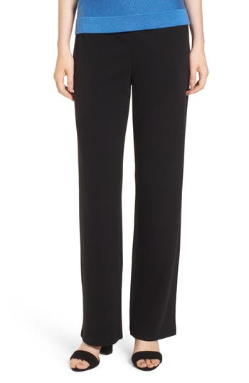 Eileen Fisher Straight Leg Pants, Black