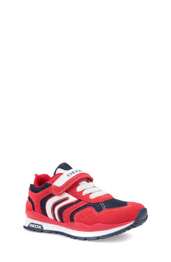 Boys Geox Pavel Low Top Sneaker Size 3.5US  35EU  Red