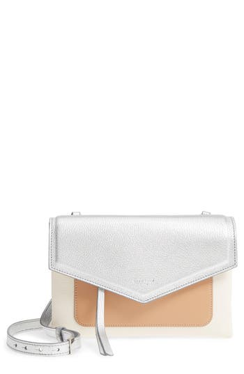 Givenchy Duetto Tricolor Leather Flap Crossbody Bag - Metallic