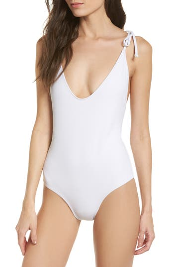 Static Robertson One-Piece Swimsuit, White