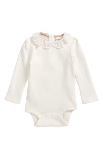 Toddler Girls Mini Boden Embroidered Collar Bodysuit