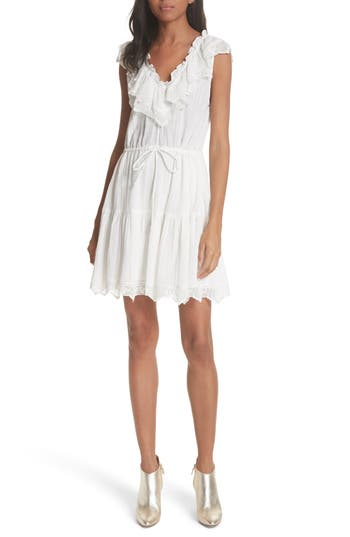 Rebecca Taylor Mariana Ruffled Dress, White