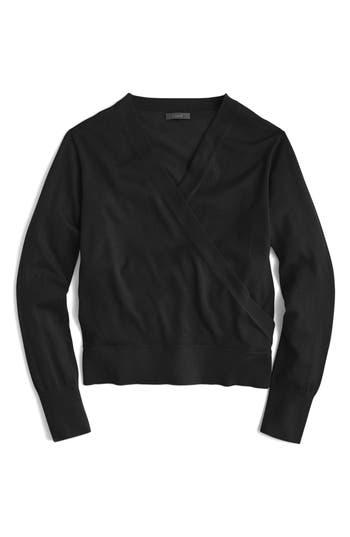 J.crew Merino Wrap Sweater, Black