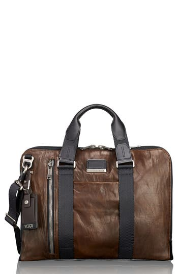 Tumi Alpha Bravo - Aviano Leather Briefcase