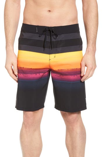Hurley Phantom Gaviota Board Shorts, Black