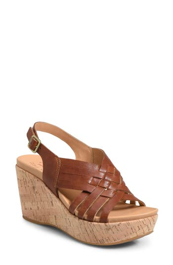 Kork-Ease Adelanto Wedge Sandal, Brown